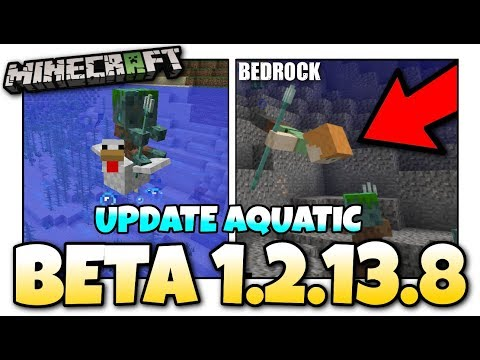 Minecraft - 1.13 BETA OUT NOW ! Update Aquatic / Change Log + New Mob - MCPE / Xbox / Bedrock