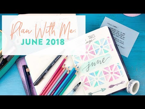 Plan With Me: Starting Fresh in a New Notebook for June