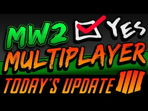 TODAY'S UPDATE: MW2 Remastered - Evidence There IS MULTIPLAYER Possibly