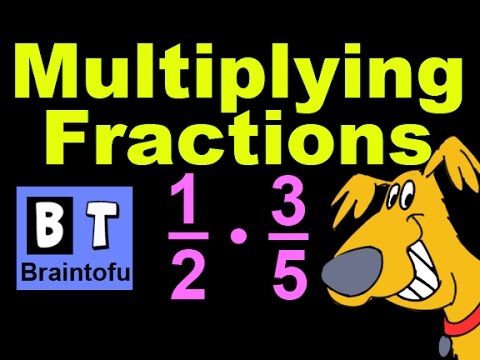 Basic Math Cartoon Lesson - Multiplying Fractions video for kids