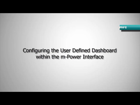 Configuring the User Defined Dashboard from the Interface