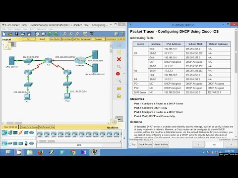 8.1.3.3 Packet Tracer - Configuring DHCPv4 Using Cisco IOS