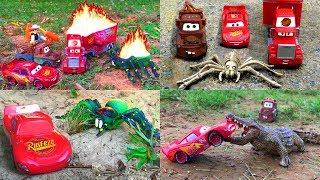 Disney Pixar Cars Lightning McQueen Saves Mack Hauler Discovery Kids Best of Cars Movie Toy Story