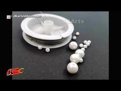 DIY Easy Pearl Necklace  | Mother's Day Gift Idea | JK Arts 1388