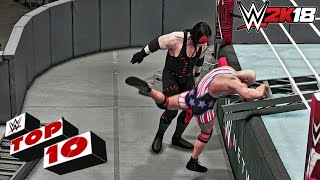WWE 2K18 - Top 10 Extreme Moments!!! (Carry System)