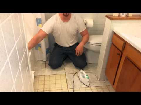 How to remove old vinyl or linoleum floor tile in seconds