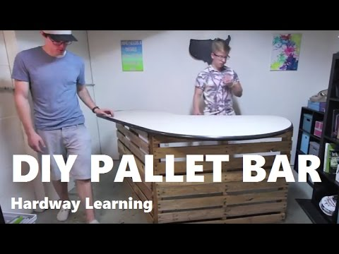 How to Build a Cheap Pallet Bar Table DIY