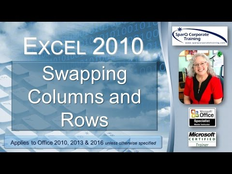Excel 2010 - Swapping Columns and Rows