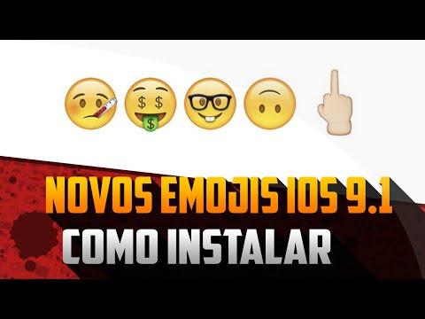 Como instalar novos Emojis (Dedo do Meio) do iOS 9.1 em qualquer iOS.