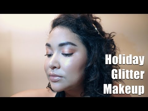 Holiday Glitter Makeup || The Savvy Beauty