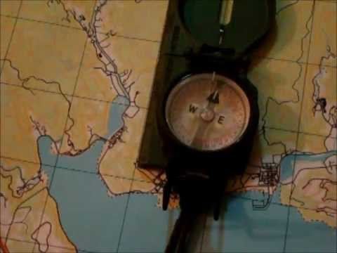 How to orient a map using a compass