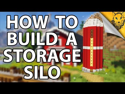 Minecraft: How To Build A Storage Silo! [1.12] [Tutorial]