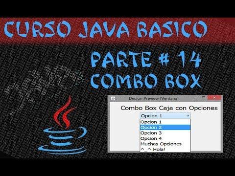Curso Java #14 Caja con Opciones Combo Box [Lista de Datos] Netbeans