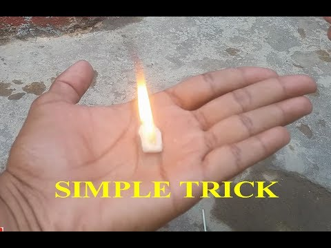 How to light a camphor in hand