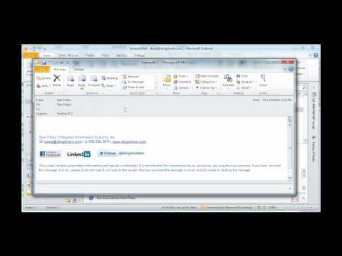 Outlook 2010 Reveal BCC In New Message
