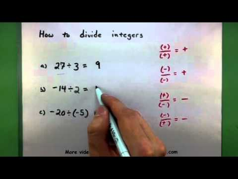 Basic Math - How to divide integers