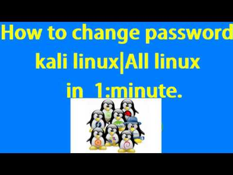 how to Change kali linux password one minute. Command Line