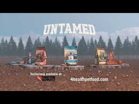 The hunt for protein-rich pet food is over. Introducing 4health Untamed.  (:60)