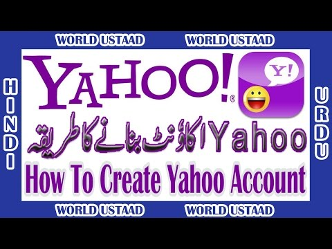 How To Create Yahoo Account in Urdu Hindi