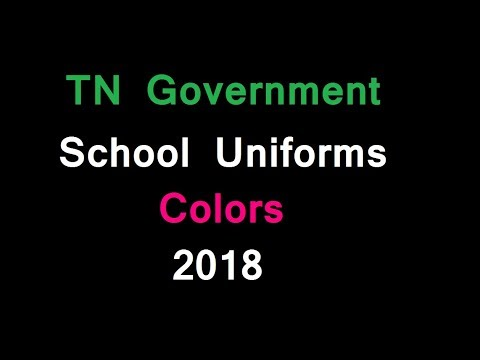 TN Government School Uniforms Colors 2018   tamil nadu government school new uniform 2018