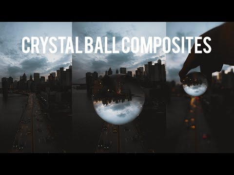 HOW TO EDIT CRYSTAL BALL COMPOSITES IN PHOTOSHOP (Adobe Photoshop Tutorial)