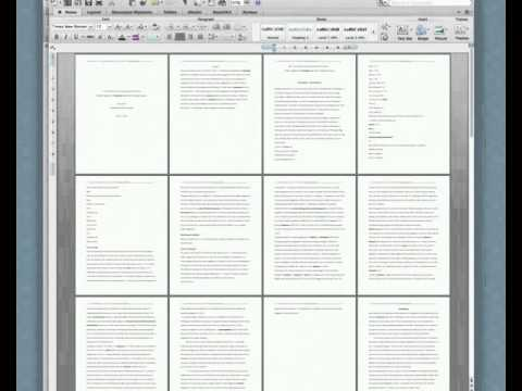 Making the Table of contents - MS Word Mac