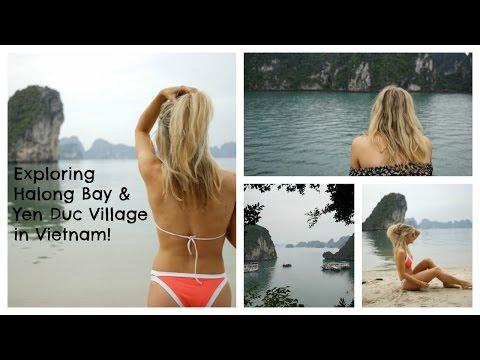 Visiting Halong Bay, Vietnam Vlog & Yen Duc Village Tour With IndoChina Junk | EmTalks