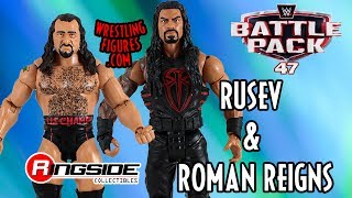 WWE FIGURE INSIDER: Rusev & Roman Reigns - WWE Battle Packs 47 Toy Wrestling Action Figure