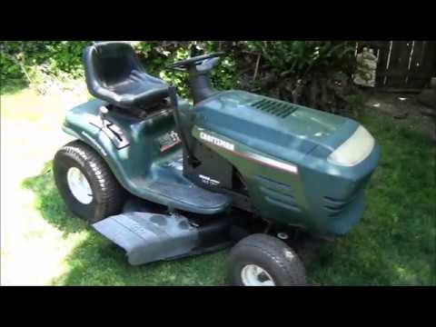 How To FIX a COMMON PROBLEM on a CRAFTSMAN Riding Lawnmower - Front WHEEL Alignment problems
