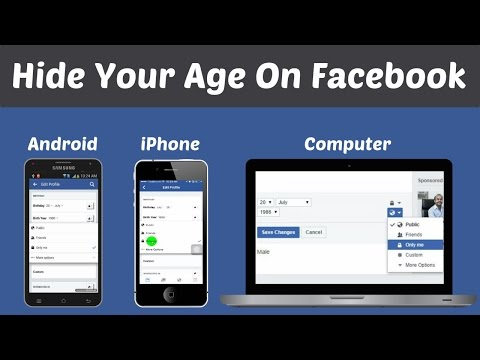 How to Hide Age on Facebook | Mobile Computer | Hide Your Birth Year in Facebook