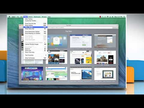 How to hide/show Status bar, Bookmarks bar/Tab bar in Apple® Safari 7 on a Mac® OS X™