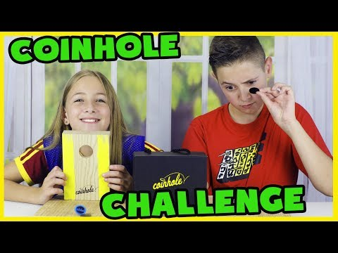 COINHOLE GAME CHALLENGE! New game from Hasbro