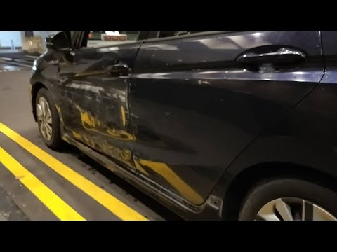 24may2018 raffles blvd outside marina square hit & run from taxi