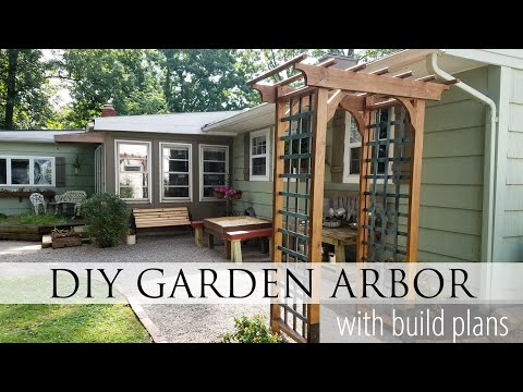 DIY Garden Arbor with Faux Patina with Dixie Belle Paints