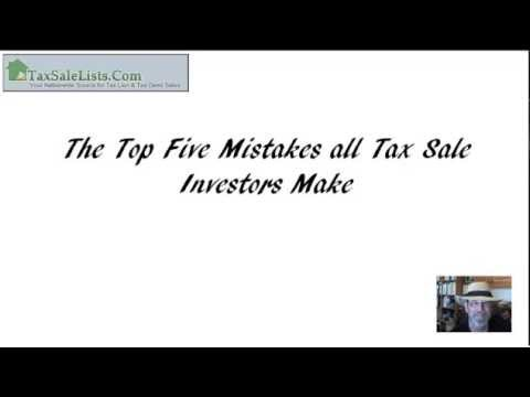 How to Buy Tax Liens: Top 5 Mistakes Investors make with Tax Lien Sales and Tax Lien Investing