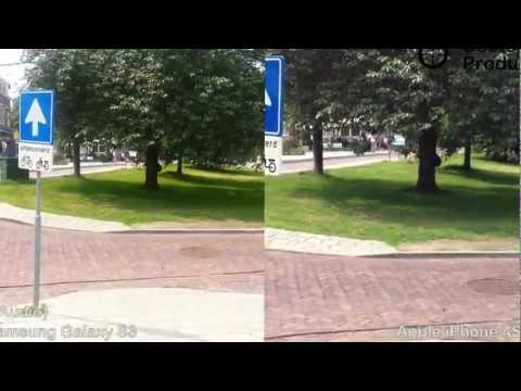 Samsung Galaxy s3 vs Iphone 4S Test Video August 2012