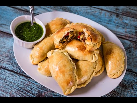 Authentic Argentinian Beef Empanadas with Chimichurri Sauce | TOM TO TABLE
