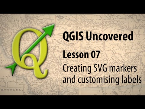 QGIS lesson 07 – Creating SVG markers and customising labels