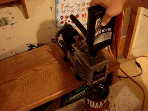 Vacuum Pump Oil Change