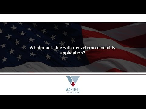 What must I file with my veteran disability application?