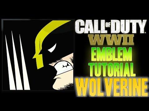 WOLVERINE - Call of Duty COD WW2 WWII ( EASY ) Emblem Tutorial