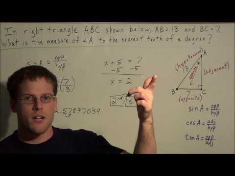Finding the Missing Angle of a Right Triangle
