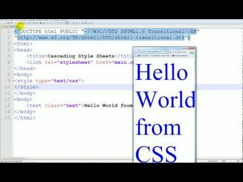 CSS Tutorial - 7 - font-size changing size of text