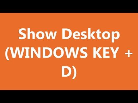 Excel Shortcuts - Show Desktop