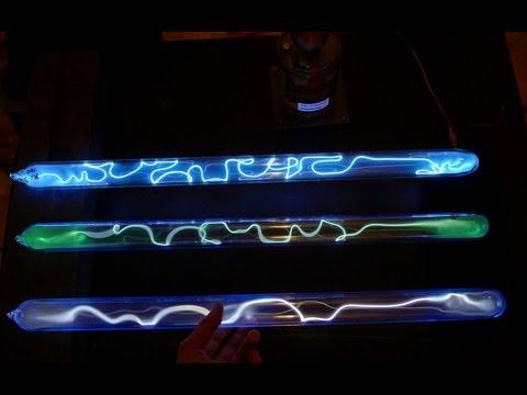 Discharge tubes with krypton, krypton+iodine, and xenon