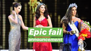 OMG! Epic fail announcement in Miss Global 2018 pageant