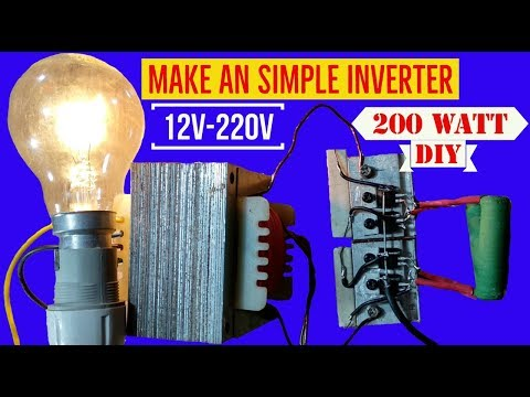 DIY | How to make a simple 12v to 220v power inverter at home