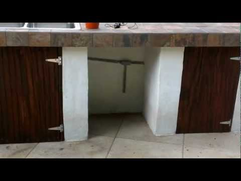 Outdoor kitchen, easy to build, cheap and very practical