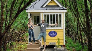 TALL COUPLE Tries Living In A TINY HOME