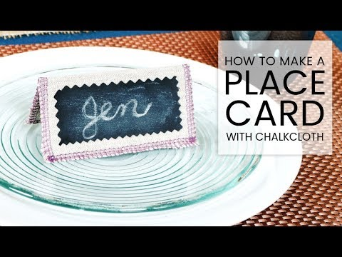 DIY Chalkcloth Place Card